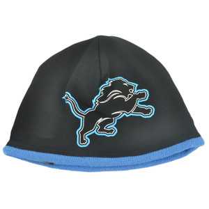 NFL New Era Detroit Lions Logo Frame Sport Knit Cuffless Warm Beanie Hat Skully