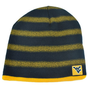 NCAA West Virginia Mountaineers Kinella Cuffless Reversible Striped Knit Beanie
