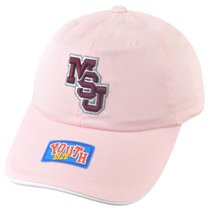 NCAA Mississippi State Bulldogs Youth Pink Sun Buckle Hat Cap Girl Relaxed Slouc