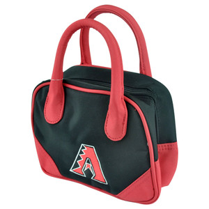 MLB Arizona Diamondbacks Mini Bowler Hand Bag Two Tone Accessories Baseball