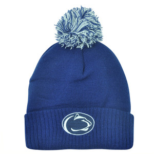 NCAA Penn State Nittany Lions Pom Pom Women Pam Cuffed Knit Beanie Toque Hat