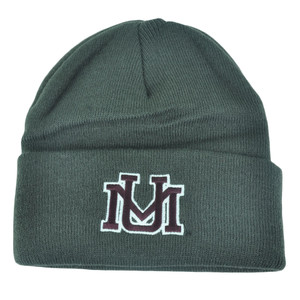 NCAA Montana Grizzlies Dusy Cuffed Thick Beanie Knit Skully Toque Hat Grey Skull