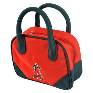 MLB Los Angeles Angels Mini Bowler Hand Bag Two Tone Accessories Baseball Womens