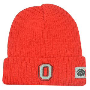 NCAA Ohio State Buckeyes Cuffed Fan Favorite Loom Red Knit Beanie Winter Hat