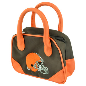 NFL Cleveland Browns Mini Bowler Hand Bag Two Tone Accessories Football Womens