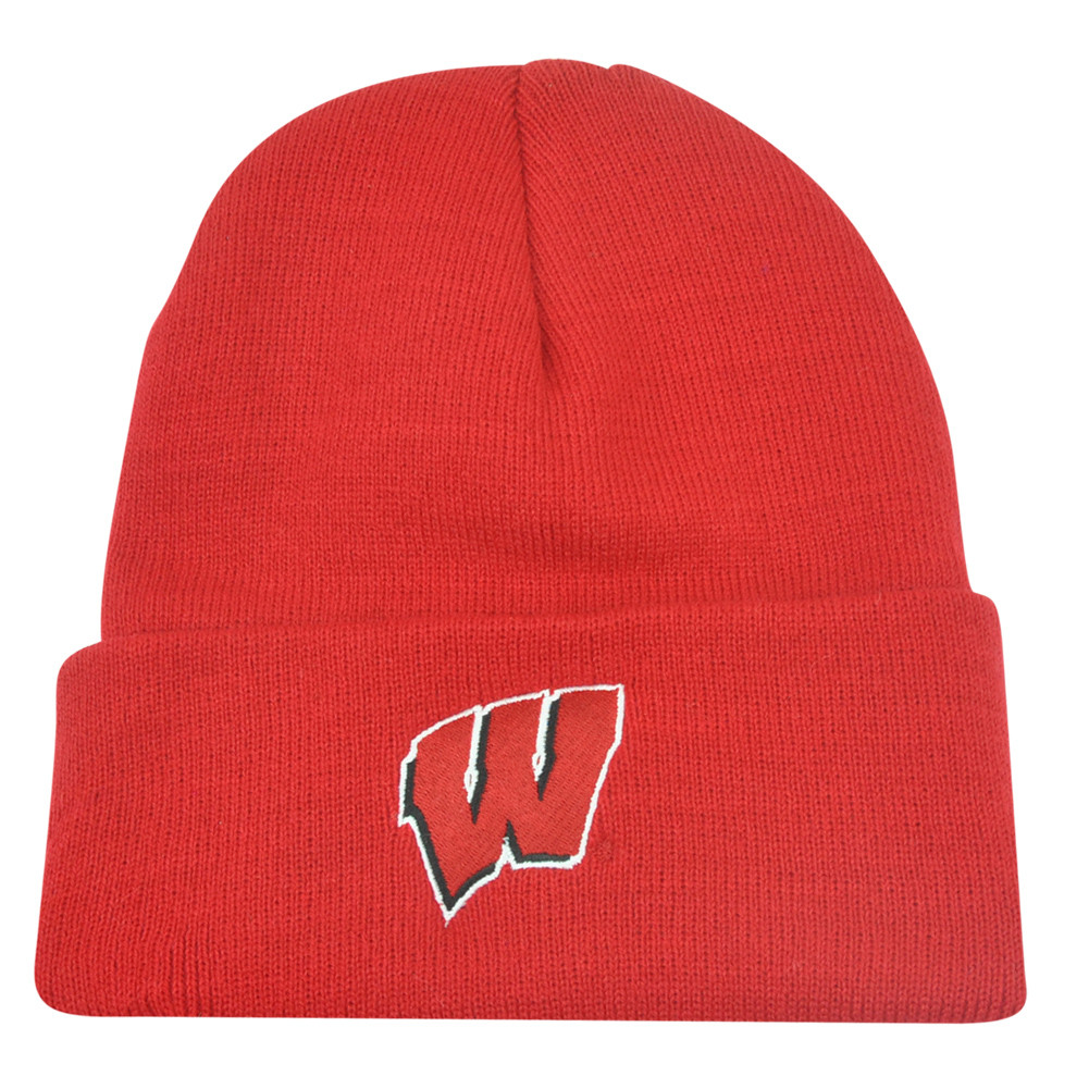 def168afb7e NCAA Wisconsin Badgers Cuffed Dusy Winter Thick Knit Beanie Hat ...