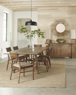 Walnut Grove Dining Table with Side and Arm Chairs
