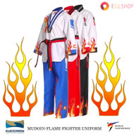 Flame Fire Taekwondo Fighter Uniform WTF Poom TKD Dobok Martial Arts Suits