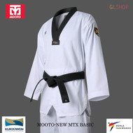 Mooto MTX Basic Taekwondo DAN Uniform Belt WTF NEW EMBLEM Mark TKD Martial Arts