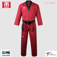 Mooto BS4.5 Red Color V Neck Taekwondo Uniform WTF DAN Dobok TKD Martial Arts