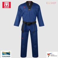 Mooto BS4.5 Blue Color V Neck Taekwondo Uniform WTF DAN Dobok TKD Martial Arts