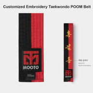 Mooto Customized Embroidery Taekwondo POOM Belt WTF TKD Martial Arts Hapkido MMA