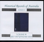 Historical Records of Australia Series 1 Volume 19