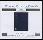 Historical Records of Australia Series 1 Volume 20