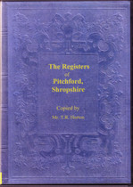 Shropshire Parish Registers: Pitchford 1558-1812