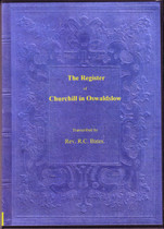 Worcestershire Parish Registers: Churchill on Oswaldslow 1564-1812