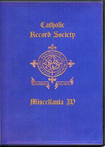 Catholic Record Society Miscellanea Volume IV