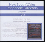 New South Wales Telephone Directory 1942: Sydney