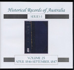 Historical Records of Australia Series 1 Volume 25