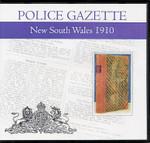 New South Wales Police Gazette 1910