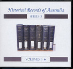 Historical Records of Australia Series 3 Volumes 1-6 Set