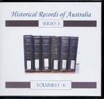 Historical Records of Australia Series 3 Volumes 1-6 Set