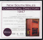 New South Wales Commercial Post Office Directory 1947 (Wise)