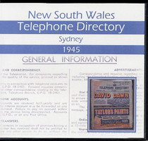 New South Wales Telephone Directory 1945: Sydney