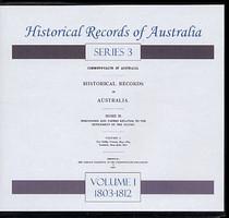 Historical Records of Australia Series 3 Volume 1