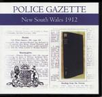 New South Wales Police Gazette 1912