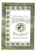 Testamenta Leodiensia (Yorkshire Wills) 1546-1558