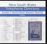 New South Wales Telephone Directory 1946: Section 7, North and North-Western Districts