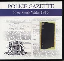 New South Wales Police Gazette 1915