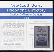 New South Wales Telephone Directory 1948: Section 5 Western Districts