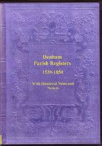 Suffolk Parish Registers: Denham 1539-1850