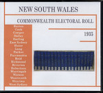 New South Wales Commonwealth Electoral Roll 1935