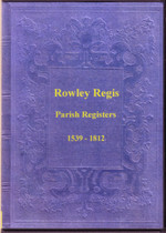 Staffordshire Parish Registers: Rowley Regis 1539-1812