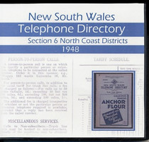 New South Wales Telephone Directory 1948: Section 6 North Coast Districts