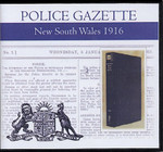 New South Wales Police Gazette 1916