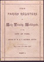 Yorkshire Parish Registers: Micklegate (Holy Trinity) 1586-1777
