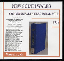 New South Wales Commonwealth Electoral Roll 1935 Warringah