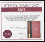 Sydney Directory 1863 (Sands)