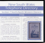 New South Wales Telephone Directory 1948: Section 7 North-North Western Districts