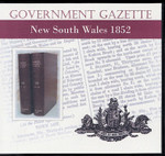 New South Wales Government Gazette 1852