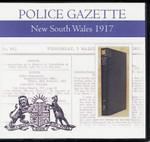New South Wales Police Gazette 1917