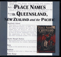 Place Names in Queensland, New Zealand and the Pacific