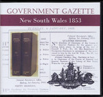 New South Wales Government Gazette 1853