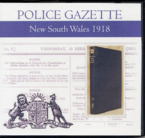 New South Wales Police Gazette 1918