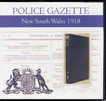 New South Wales Police Gazette 1918