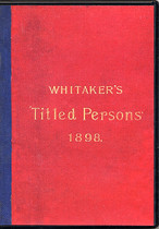 Whitaker's Titled Persons 1898